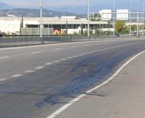 La carretera enfonsada
